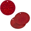 Sequins Hologram 30mm 1mm Hole Round Red